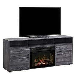 "BOWERY HILL 25"" Fireplace TV Stand in Carbonized Walnut"