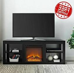 Fireplace TV Stand For 65 Flatscreen With Storage Electric H