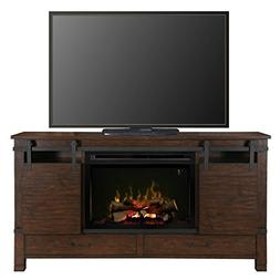 "BOWERY HILL 30"" Fireplace TV Stand in Harper Brown"