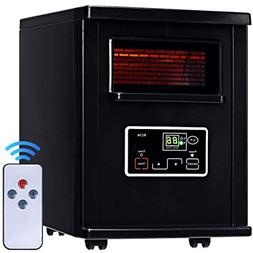 New Black,Goplus 1500W Electric Portable Infrared Quartz Spa