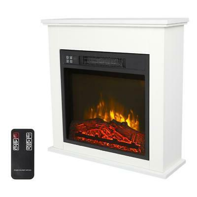 """18"""" 1400W Wooden Cabinet Electric Fireplace Heater Freestand"""