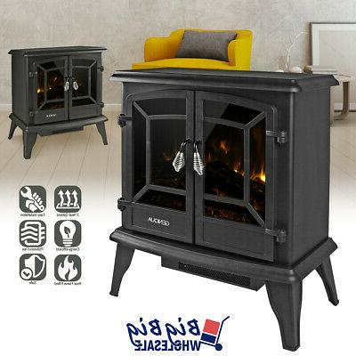 1400w 20 freestanding electric fireplace heater stove