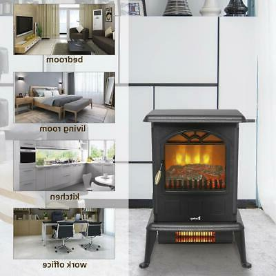 1500W Space Heater Log Stove Home US