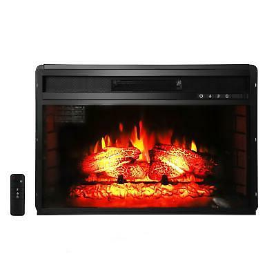 "Hot New Embedded 26"" Electric Fireplace Insert Heater Log Fl"