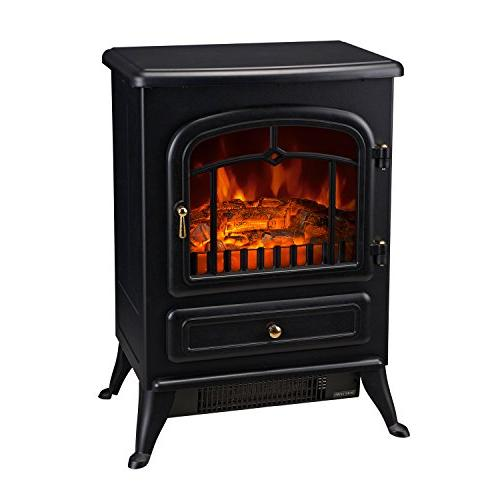 HomCom 16 Standing Fireplace - Black