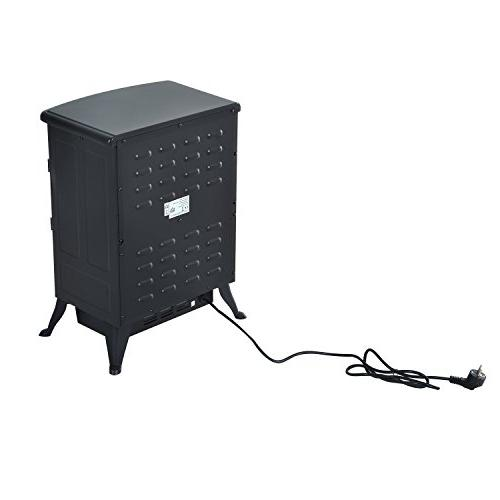 HomCom 1500W Standing Fireplace - Black