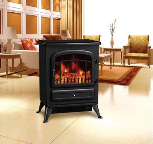 HomCom Free Standing Electric Fireplace - Black