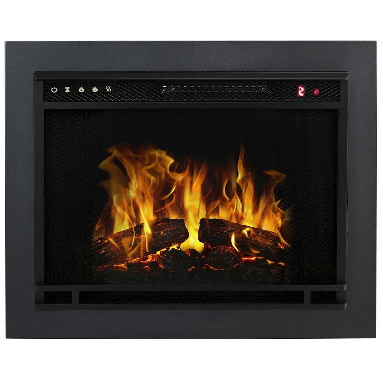 23 inch flat ventless heater electric fireplace