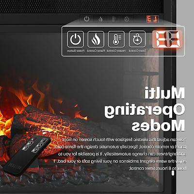 """26"""" Ventless Insert Heater Electric Flame,"""