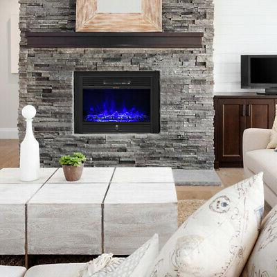 """28.5"""" Fireplace Embedded Insert Heater Flame"""