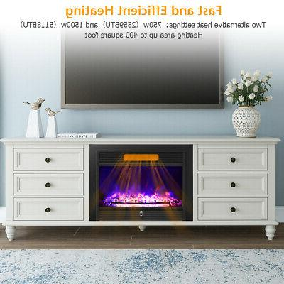 """28.5"""" Fireplace Electric Insert Flame Remote"""