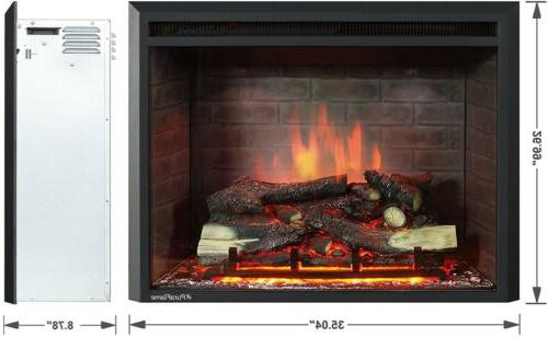 30 Electric Firebox With Control Black