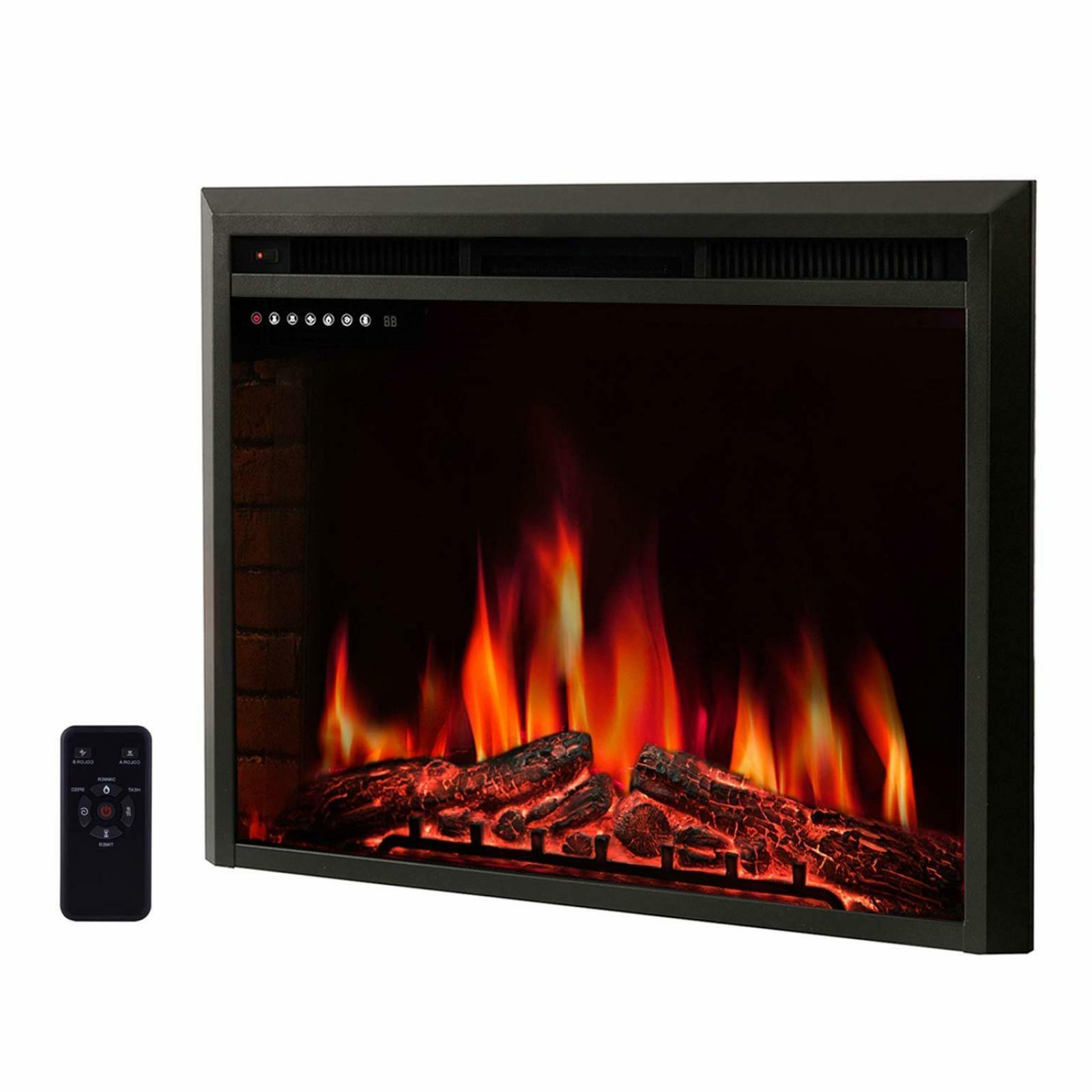 """R.W.FLAME 36"""" Electric Fireplace Insert,Freestanding & Reces"""
