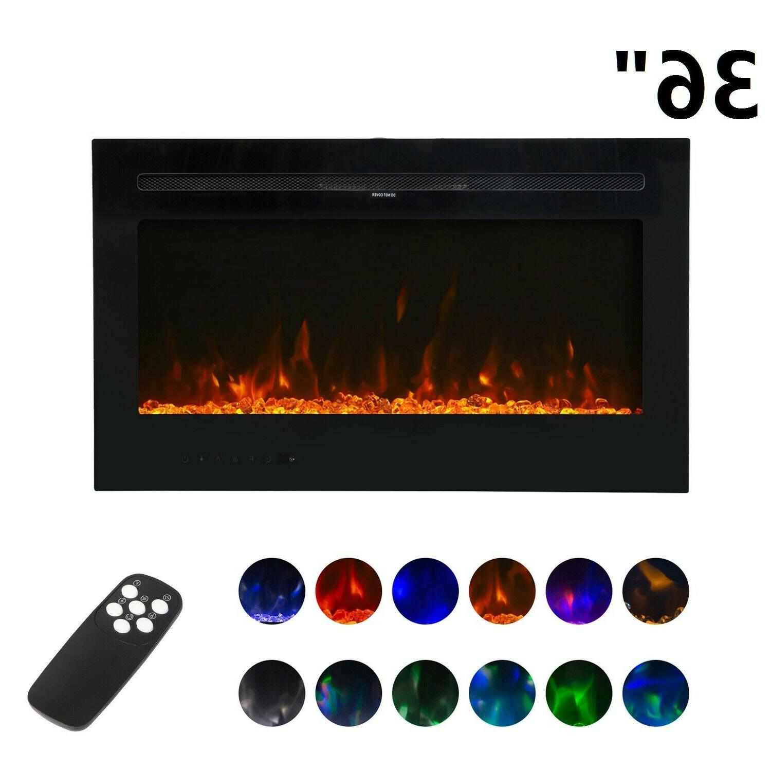36 wall mount electric heater multi color