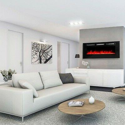 """50"""" Electric Fireplace Recessed insert or Wall Standing Heater"""