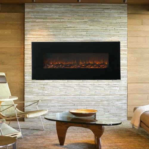 50 1500w wall mount electric fireplace heater