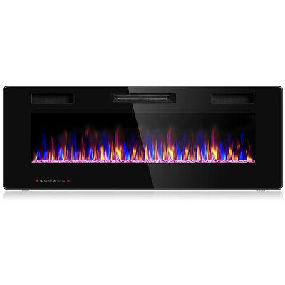 50 electric fireplace recessed ultra thin wall