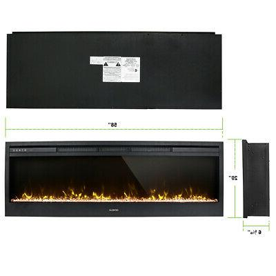 """58"""" Insert Wall Heater Adjust 3D Crystal Flame"""