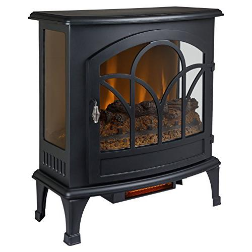 "Muskoka Curved Front 25"" Infrared Panoramic Electric Stove-B"