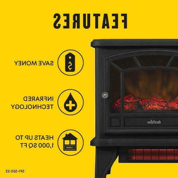 Duraflame Infrared Electric Fireplace Heater