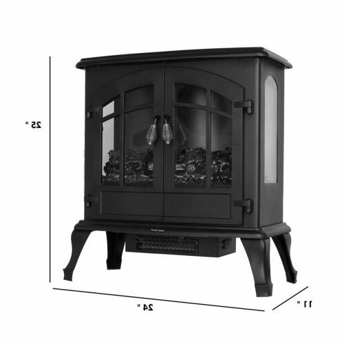 1500W Electric Fireplace Freestanding Stove with Burning