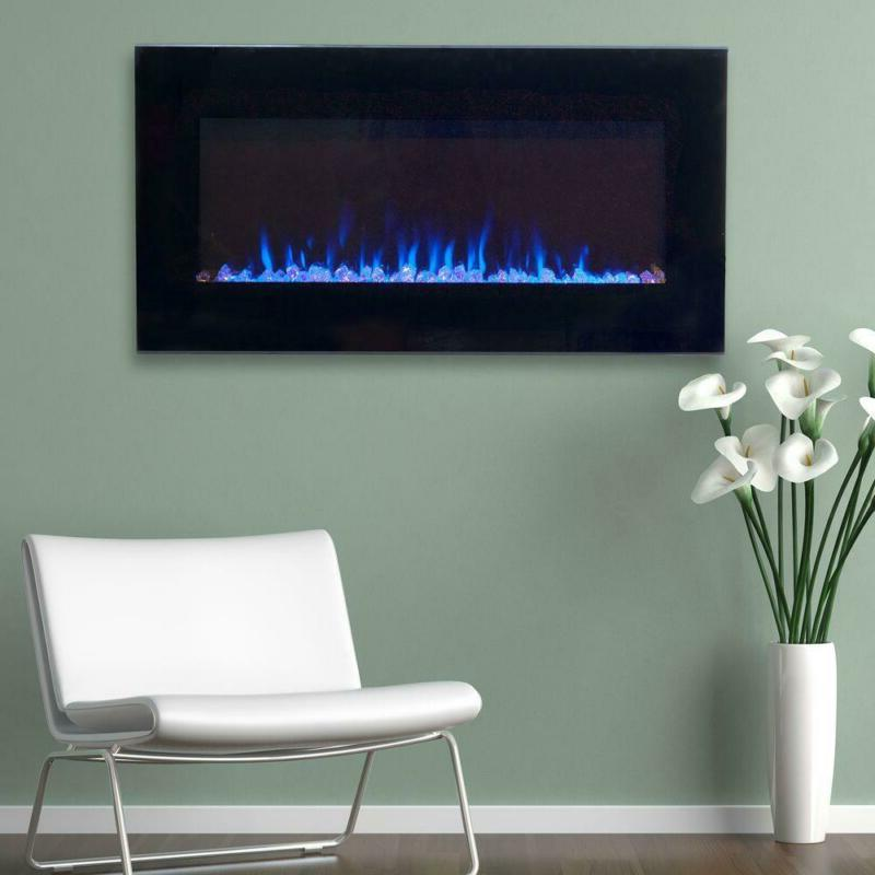 Northwest Electric Fireplace Heater LED Black 2 Heat Sleek G