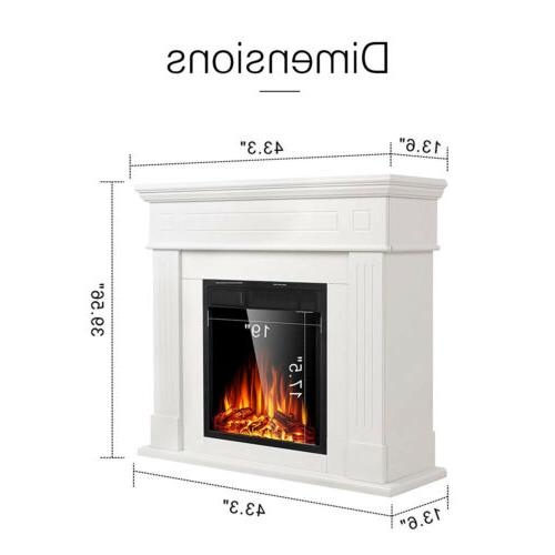 Electric Fireplace Wood Mantel Logs Control