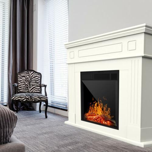 Electric Wood Mantel Cabinet Logs