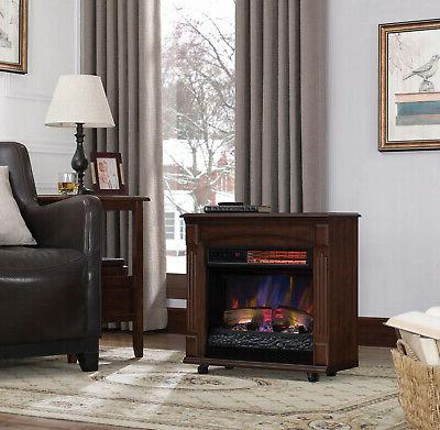 Electric Fireplace Infrared Heater LED Remote