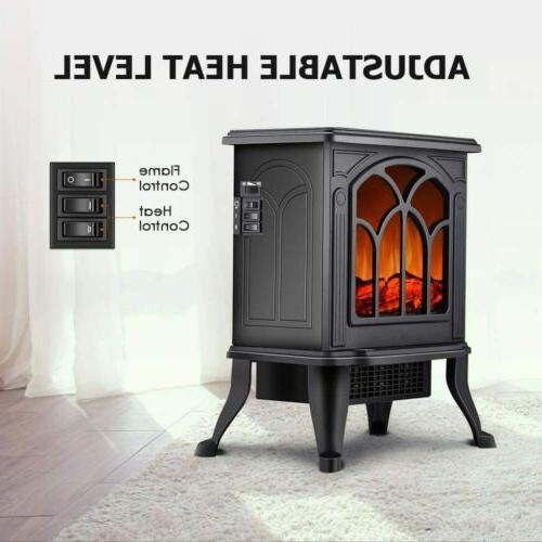 Electric Fireplace Stove Heater Stove Realistic Safety 1500W