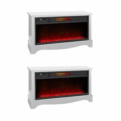 lifezone electric infrared quartz standing fireplace heater
