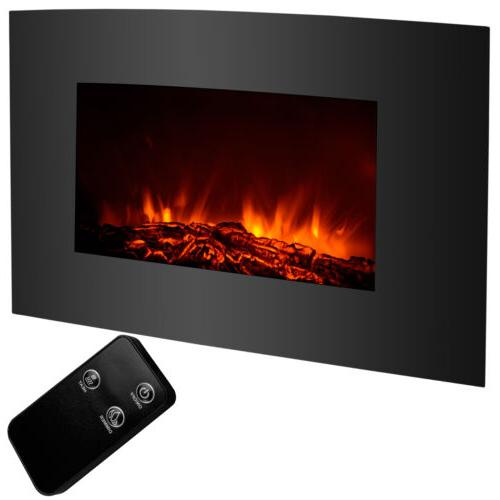"""33""""x22"""" 1500W Electric Fireplace Wall Mount Heater with Remo"""