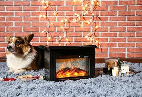 DONYER Electric Fireplace Portable Heater, Frame,Room