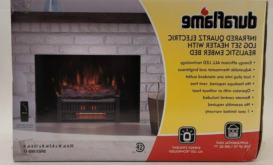 New Duraflame LOG Heater FLAME Remote