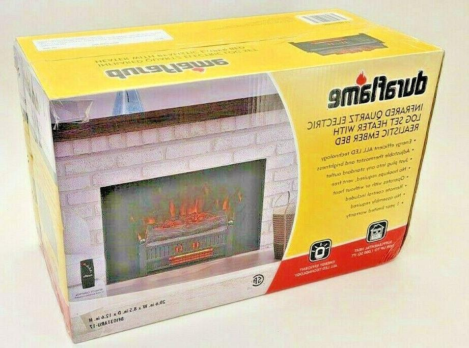 new electric fireplace log insert heater led