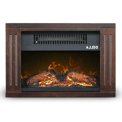 Portable Freestanding Space Heater Flame Effect Electric Fireplace