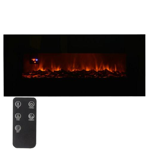 wall mount electric fireplace 50 heater flame