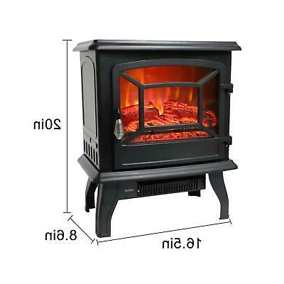 Warm Portable Fireplace Stove Standing