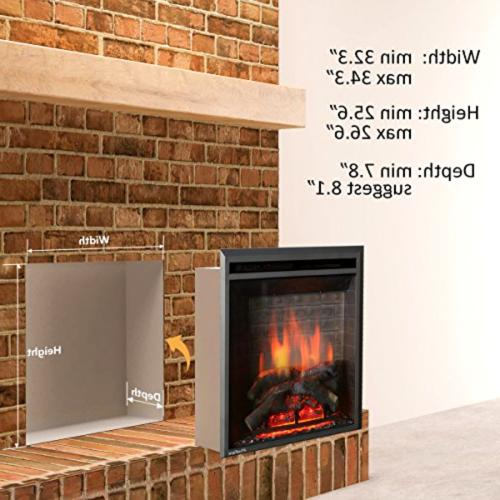 PuraFlame Western Embedded Heater With Control,