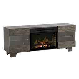 Max Media Console with Multi-fire logset firebox- elm brown