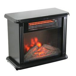 Mini Fireplace Electric Heater Furnace with Realistic 3D Fla