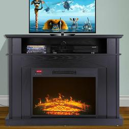 """41"""" Free Standing 1500W Electric Fireplace TV Console Stand"""