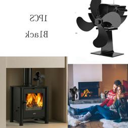 New Thermal Heater Fan Stove Fireplace Heating Powered Stove
