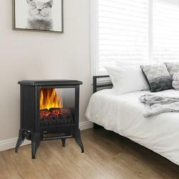 """Portable 14"""" 1400W Electric Fireplace Space Heater Knob Cont"""