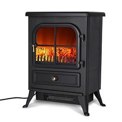 Finether Portable Electric Fireplace|1500W Free Standing Ele