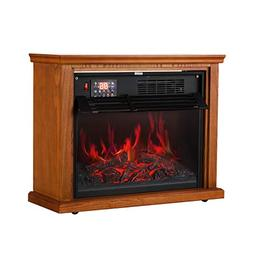 Portable Electric Fireplace Infrared Quartz Heater Adjustabl