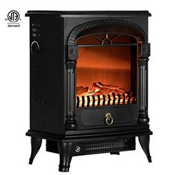 VIVOHOME 110V 20 Inch Portable Electric Fireplace Stove Heat