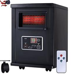 Portable Modern Electric Remote Infrared Heater Black Equipm