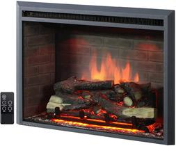 PuraFlame 33 Inches Western Electric Fireplace Insert Heater