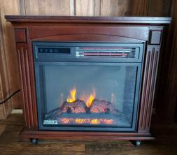 Duraflame Quartz Infrared Heater Rolling Mantel Fireplace He